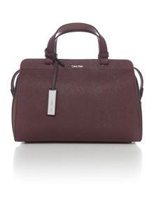 Sofie burgundy duffle bag