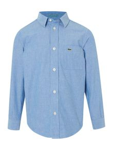 Lacoste Boys Oxford Long Sleeved Shirt