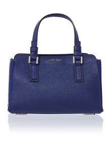 Sofie blue mini duffle bag