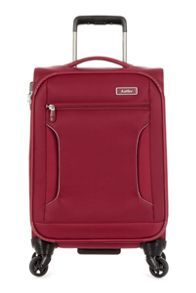 Antler Cyberlite II red 2 wheel soft cabin suitcase