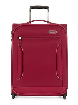 Cyberlite II red 2 wheel soft cabin suitcase