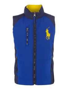 Boys Padded Gilet With Large Pony Player