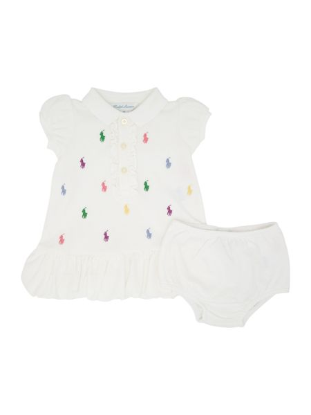 Polo Ralph Lauren Girls Short Sleeved Pony Print Polo Dress