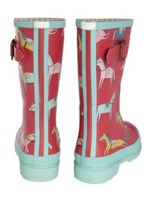 Girls Horse Print Wellies