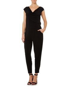 Gray & Willow Jo drape front jumpsuit