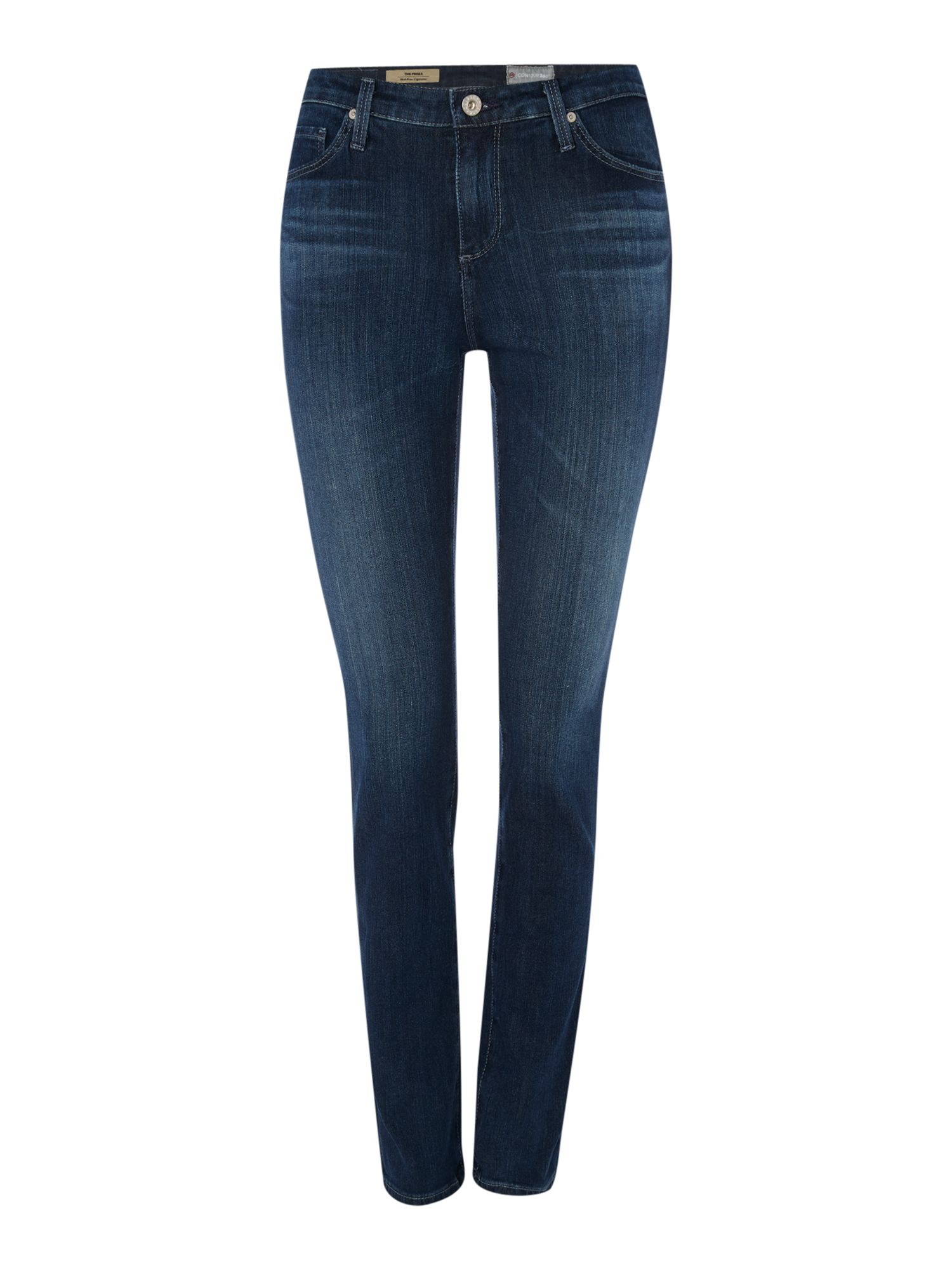 Prima Mid Rise Cigarette Jean In Crater, Denim Mid Wash