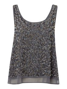 Beaded double layer top