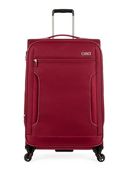Cyberlite II red 4 wheel soft large suitcase