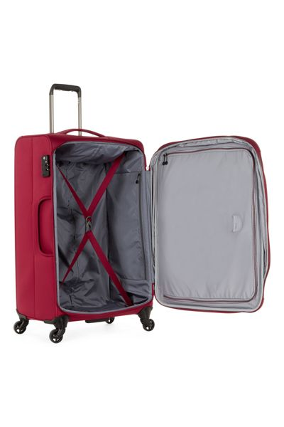 Antler Cyberlite II red 4 wheel soft large suitcase