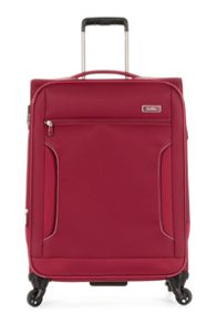 Antler Cyberlite II red 4 wheel soft medium suitcase