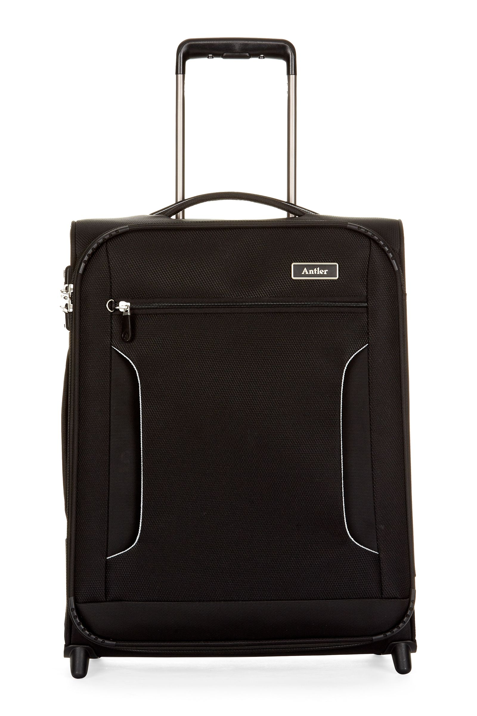 Antler Cyberlite II Black 2 Wheel Soft Cabin Suitcase Black