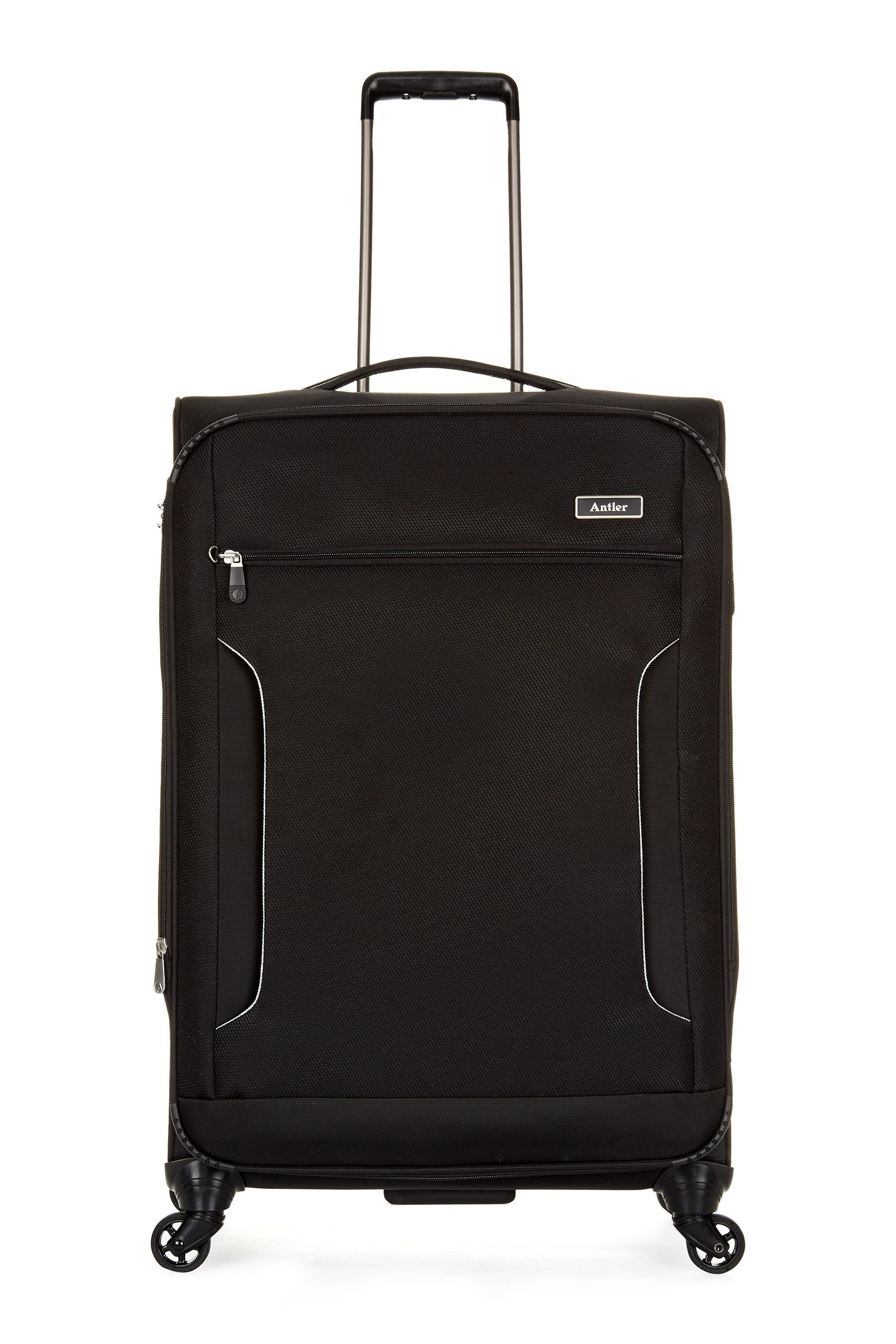 Antler Cyberlite II black 4 wheel soft large suitcase Black