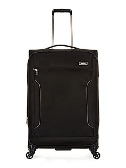 Cyberlite II black 4 wheel soft large suitcase
