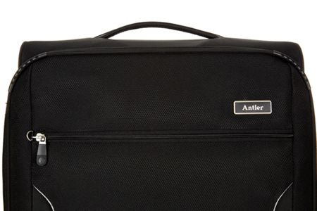 Antler Cyberlite II black 4 wheel soft large suitcase