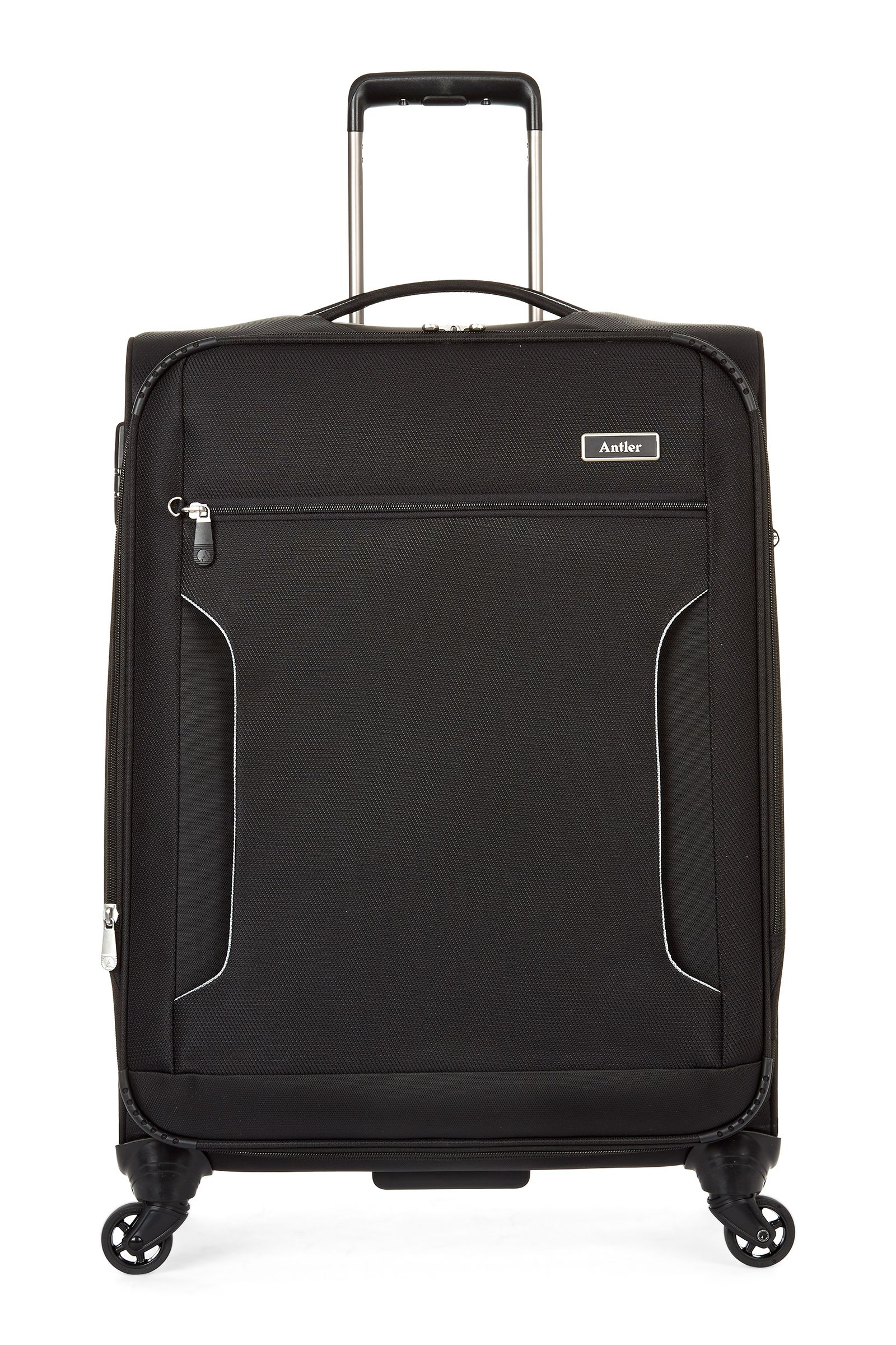 Antler Cyberlite II Black 4 Wheel Soft Medium Suitcase Black