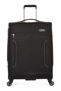 Antler Cyberlite II Black 4 Wheel Soft Medium Suitcase
