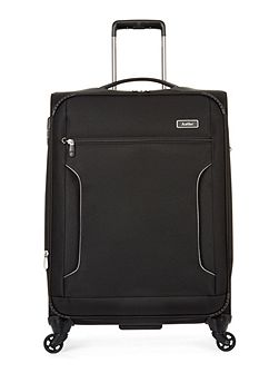 Cyberlite II Black 4 Wheel Soft Medium Suitcase