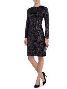 Glitter lace tunic dress