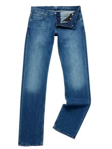 7 For All Mankind The Straight Luxe Performance Indigo Jeans
