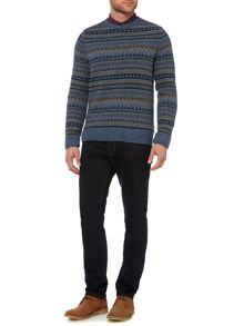 Criminal Chris Fairisle Crew Neck Jumper