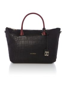 Blanche black croc tote bag