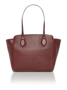 London burgundy tote bag