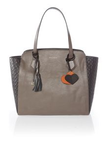 London taupe large tote bag