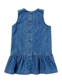 Baby Girls Denim Bow Dress