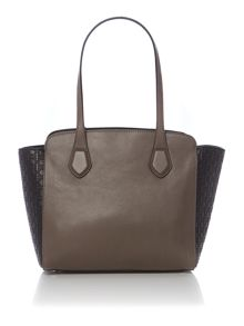 London taupe medium tote bag
