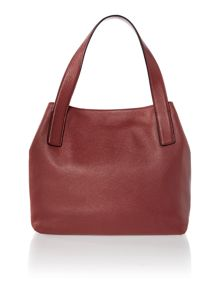 Mila burgundy tote bag