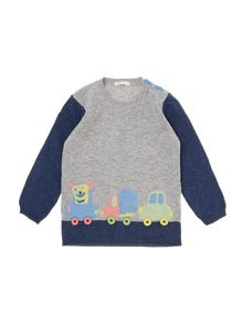 Benetton Baby Boys Cars Jumper