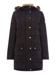 Barbour Landry longline parka quilted coat