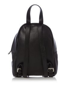Saint moriz black mini backpack