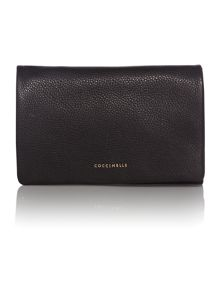 Sibilla black clutch bag