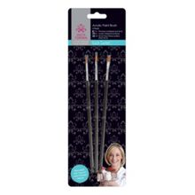 Little Venice Cake Company Acrylic paint brushes 3PK