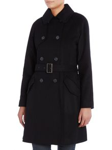 Nebit single breated wool coat