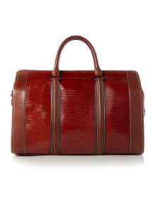Exotic Emboss Leather Holdall
