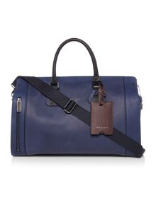 Colour Block Leather Holdall