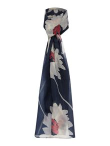 Dickins & Jones Wide Silk Daisy Print Scarf