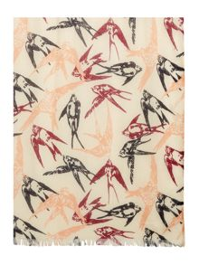 Dickins & Jones Sketchy Bird Print Scarf