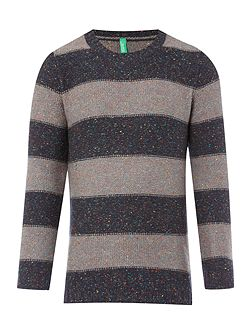 Boys Bold Stripe Crew Neck Jumper