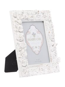 Shabby Chic Rose photo frame 5x7