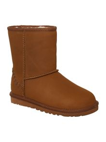 UGG Kids Classic Short Leather Deco Boots