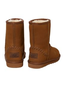 Kids Classic Short Leather Deco Boots