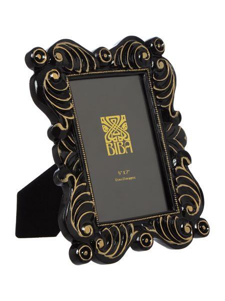 Biba Jasmine black photo frame 5x7