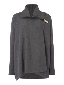 Cape with buckle detail
