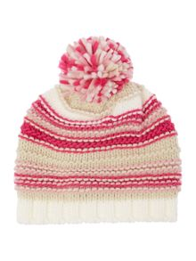 Barbour Girls Textured Stripe Hat