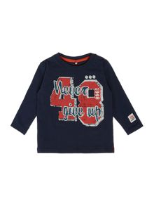 Boys Long Sleeve Logo Top