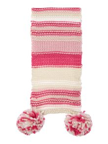 Barbour Girls Textured Stripe Scarf