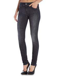 Exclusive cristen skinny jean in washed black